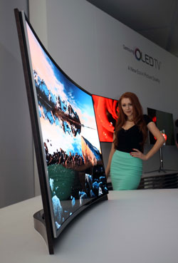Primera televisión curvada de Samsung