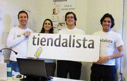 Los cuatro jóvenes fundadores de Tiendalista
