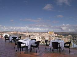 Terraza del parador de Toledo