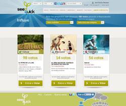web de Seedqick, de Lánzanos