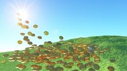 Dinero hacia la nube, de pixabay