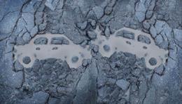 Vehículos en accidente, de Sanahuja