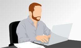 Comercial y ordenador, de Pixabay