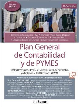 Portada de Plan Geenral de Contabilidad y de Pymes