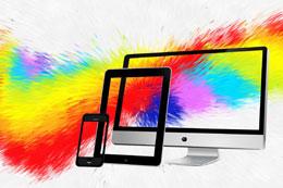 Tres pantallas, de Pixabay