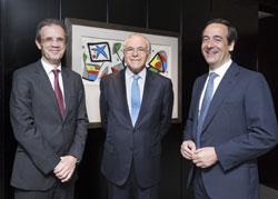 Jordi Gual, Isidro Fainé y Gonzalo Gortázar, de CaixaBank