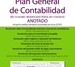 Portada de Plan General de Contabilidad ANOTADO