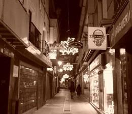 Calle comercial, de Pixabay