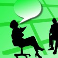Diálogo con jefe, de Pixabay