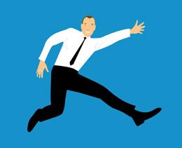 Emprendedor feliz, de Pixabay