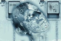 Hombre en el futuro, de Pixabay