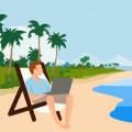 Vacaciones sin desconectar, de Pixabay