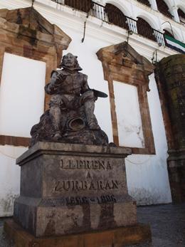 Estatua de Zurbarán en Llerena, de Open