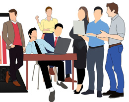 Interrupciones en oficina, de Pixabay