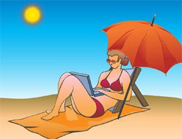 Conexión al trabajo en vacaciones, de Pixabay