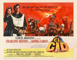 Cartel de la película El Cid, de Oepn