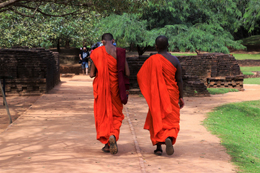 Monjes en Sri Lanka, de Pixabay