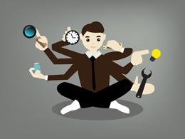 Empleado multitarea, de Pixabay
