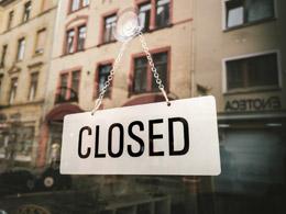 Cierre de pequeño negocio, de Pixabay