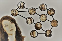 Red de contactos, de pixabay