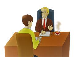 Entrevista de trabajo a candidato, de Pixabay