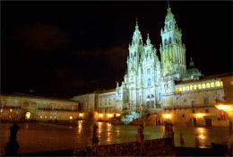 Plaza del Obradoiro de noche, de Turismo de Santiago
