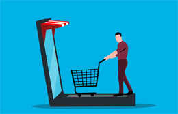 Carrito de compra online, de Pixabay