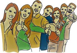 Trabajadores fans de la empresa, de Pixabay