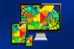Colores en web corporativa, de Pixabay