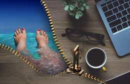 Desconectar del trabajo durante el veraneo, de Pixabay